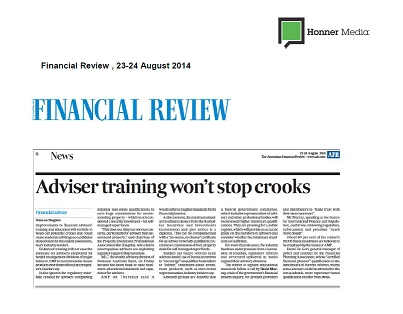 Advisor training wont stop crooks