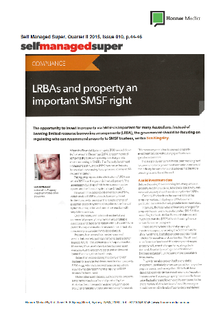LRBAs and property an important SMSF right page 1