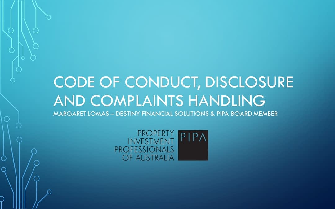 PIPA Code of Conduct, Disclosure and Complaints Handing