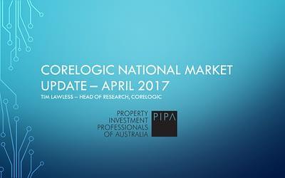 CoreLogic National Market Update – April 2017