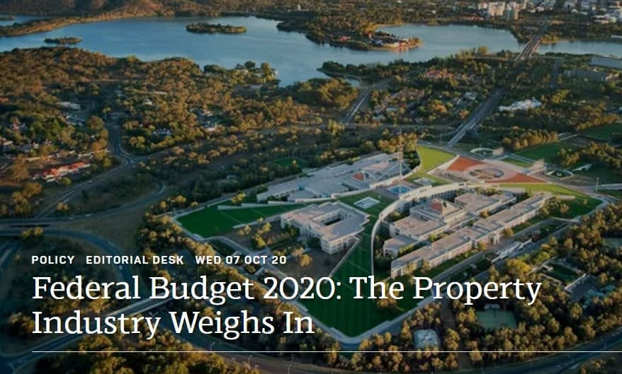 Federal Budget 2020: The Property Industry Weighs In