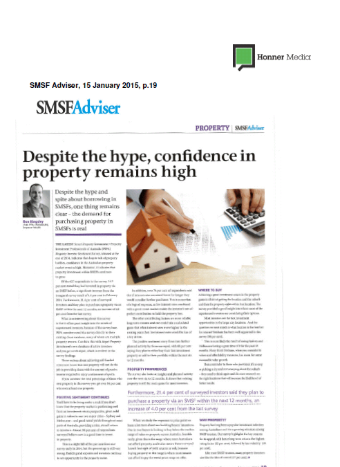 Despite the hype confidence in property remains high 2